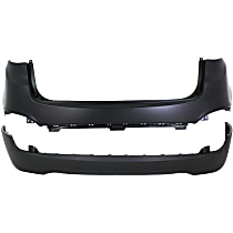 Bumper Cover - Rear, Upper and Lower, 2 Pieces, Primed, CAPA Certified