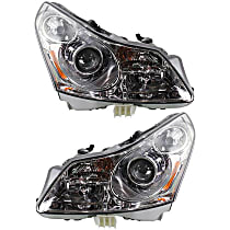 Driver and Passenger Side Halogen Headlight, With Bulb(s) - Sedan, Without Adaptive Frontlighting System