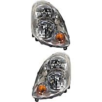 Driver and Passenger Side Halogen Headlight, With bulb(s), Sedan