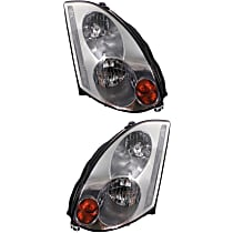 Driver and Passenger Side HID/Xenon Headlight, Without Bulb(s) - Coupe