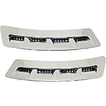 Replacement SET-REPI224701 Fender Vents - Chrome,, Direct Fit