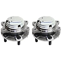 Front, Driver and Passenger Side Wheel Hub and Bearing Assembly, For RWD