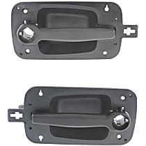 Front, Driver and Passenger Side Exterior Door Handle, Textured Black