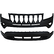Front, Upper and Lower Bumper Cover - w/o Tow Hook Holes