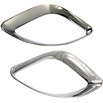 Front, Driver and Passenger Side Grille Trim - Chrome
