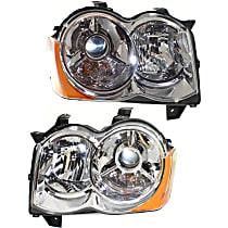 Headlights - Driver and Passenger Side, Pair, HID/Xenon, SRT Option Group 2, Chrome Trim