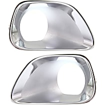 Fog Light Trim Set For 2011-2013 Jeep Grand Cherokee Left /& Right Primed 2Pc