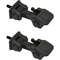Replacement SET-REPJ132301-2 Hood Catch - Black, Direct Fit, Set of 2