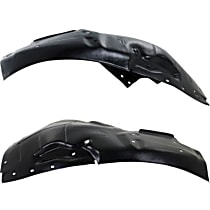 Replacement Fender Liner - Front, Driver and Passenger Side (Front Section), Plastic