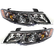 Driver and Passenger Side Halogen Headlight, With Bulb(s) - Hatchback/Sedan