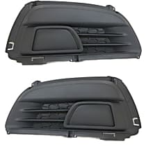 Driver and Passenger Side (Set of 2) Fog Light Cover, Black