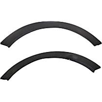 Front, Driver and Passenger Side Fender Trim, Black