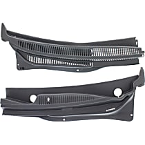 Wiper Cowl Grille - Black, Direct Fit