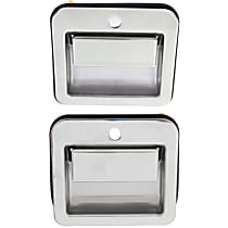 Front, Driver and Passenger Side Exterior Door Handle, Chrome
