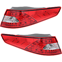 Driver and Passenger Side, Outer Tail Light, With bulb(s)