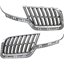 Grille Assembly - Chrome Shell with Painted Gray Insert, Driver and Passenger Side, without Sport Appearance Package