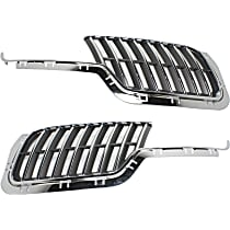 Grille Assembly - Chrome Shell with Dark Gray Insert, Driver and Passenger Side, with Sport Appearance Package