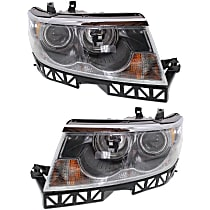 Driver and Passenger Side Halogen Headlight Assembly