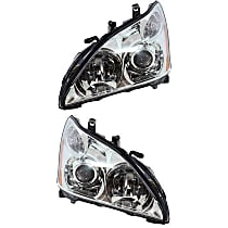Driver and Passenger Side HID/Xenon Headlight - 2004-2006 Lexus RX330, Japan Built Model, w/o Adaptive Front Lighting System (AFS)