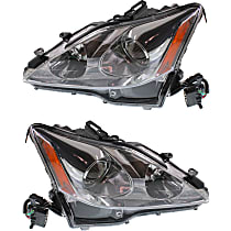 Driver and Passenger Side Halogen Headlight, Without bulb(s) - Models Without Auto-Leveling