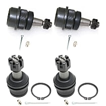 Ball Joint - Front, Driver and Passenger Side, Upper and Lower, Set of 4