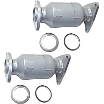 46-State Legal (Cannot ship to CA, CO, NY or ME) Catalytic Converters - EPA Approved Catalyst (Set of 2)