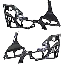 Front, Driver and Passenger Side Bumper Bracket - Bumper Support, Outer Frame, Sedan/Wagon
