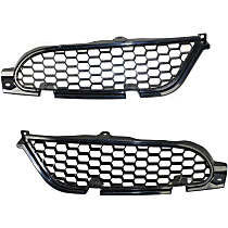 Grille Assembly - Painted Black Shell and Insert, Driver and Passenger Side