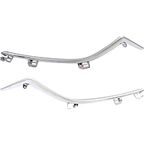 CAPA Certified Driver and Passenger Side Grille Trim - Chrome