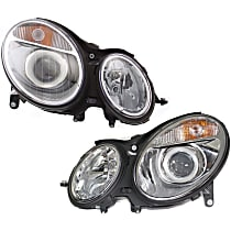 Driver and Passenger Side Halogen Headlight, With bulb(s) - Sedan/Wagon To 6-30-06