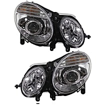 Driver and Passenger Side Halogen Headlight, With bulb(s) - From 6-30-06