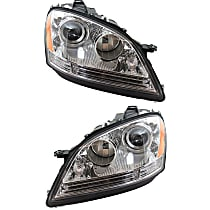 "Driver and Passenger Side Halogen Headlight, With bulb(s) - Vehicles Without Special Model ""Grand Edition"" - Up to Chassis No. A 453758"