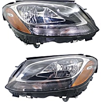 Driver and Passenger Side Headlight, With bulb(s) - (15-16 Sedan) / (17 Coupe), CAPA CERTIFIED