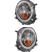 Driver and Passenger Side Halogen Headlight, With Bulb(s) - Models Without Auto-Leveling
