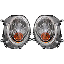 Driver and Passenger Side Halogen Headlight, With Bulb(s) - Models Without Auto-Leveling, CAPA CERTIFIED