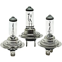 Headlight Bulb - Driver and Passenger Side, H7 Bulb Type, High Beam or Low-Beam (Set of 3)