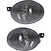 CAPA Certified Front, Driver and Passenger Side Fog Light, With bulb(s)