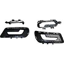 Fog Light Trim - Driver and Passenger Side, Primed, with AMG Styling Package