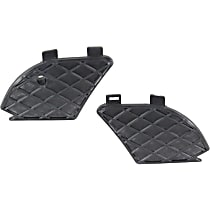 Driver and Passenger Side (Set of 2), Fog Light Cover, (W210 Chassis), Models w/o AMG Styling Package