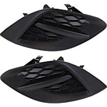 Driver and Passenger Side Fog Light Cover, Textured Black