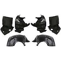 Fender Liner - Front, Driver and Passenger Side, Front Upper and Lower Section and Rear Section
