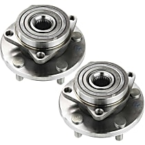 Front, Driver and Passenger Side Wheel Hub and Bearing Assembly For Coupe FWD with 4-bolt mounting