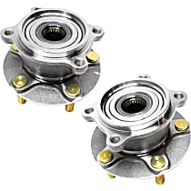 Rear, Driver and Passenger Side Wheel Hub and Bearing Assembly For AWD