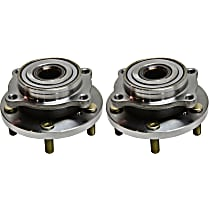Front, Driver and Passenger Side Wheel Hub and Ball Bearing For AWD/FWD