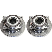 Front, Driver and Passenger Side Wheel Hub and Bearing Assembly, For FWD with 1.6L Engines