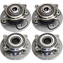 Front and Rear, Driver and Passenger Side Wheel Hub And Bearing Assembly, For FWD