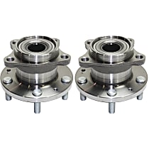 Rear, Driver and Passenger Side Wheel Hub And Bearing Assembly, For AWD