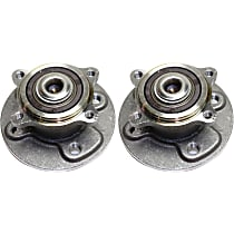 Rear Wheel Bearing and Hub Assembly, Driver and Passenger Side For FWD Models with 4 Wheel Bolt Stud