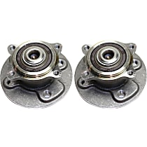Rear, Driver and Passenger Side Wheel Hub and Bearing Assembly, For FWD