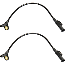 Rear, Driver and Passenger Side ABS Speed Sensor - Set of 2